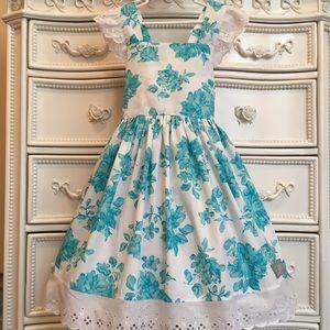 BEAUTIFUL Eleanor Rose Tiffany Blue Dress 8-10